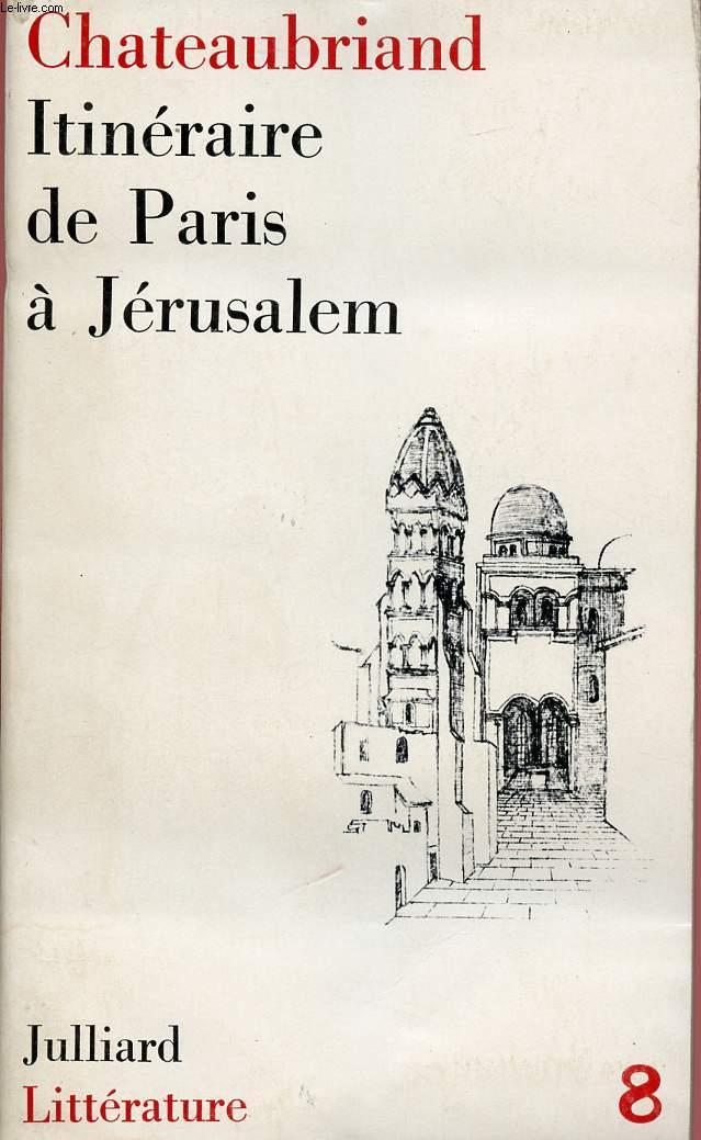 ITINERAIRE DE PARIE A JERUSALEM