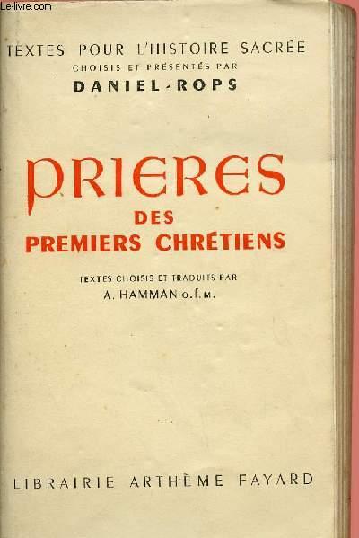 PRIERES DES PREMIERS CHRETIENS