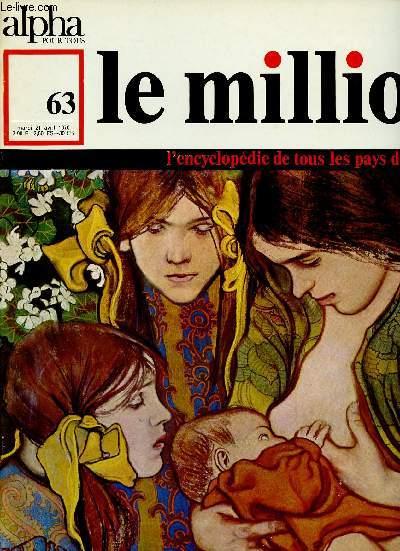 ALPHA POUR TOUS - LE MILLION N°63 - 21 AVRIL 70 :POLOGNE : théâtre, cinéma, musique, Sciences, Arts, Société d'aujourd'hui, Voyage, cuisine,etc
