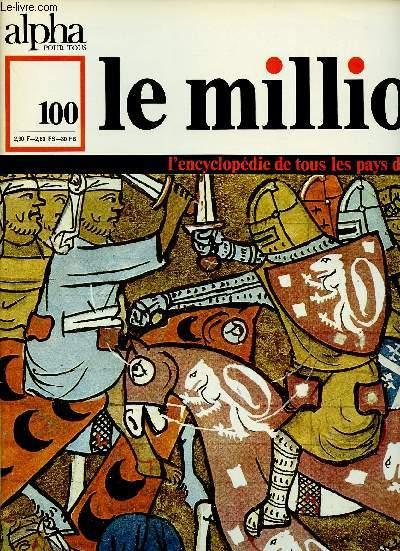ALPHA POUR TOUS - LE MILLION N°100 - 19 JAN 71 :