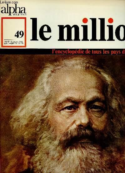 ALPHA POUR TOUS - LE MILLION N°49 - 13 JAN 70 :ALLEMAGNE : Repères chronologiques, littérature, Rhin (carte commentée)