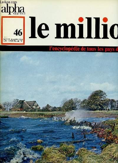 ALPHA POUR TOUS - LE MILLION N°46 - 23 DEC 69 : ALLEMAGNE : Territoire, régions naturelles, population, villes de la R.F.A, Ruhr, Berlin, villes de la R.D.A , économie.