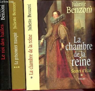 SECRET D'ETAT - 3 TOMES EN 3 VOLUMES : TOME 1 :  LA CHAMBRE DE LA REINE / TOME 2 : LE ROI DES HALLES / TOME 3 : LE PRISONNIER MASQUE