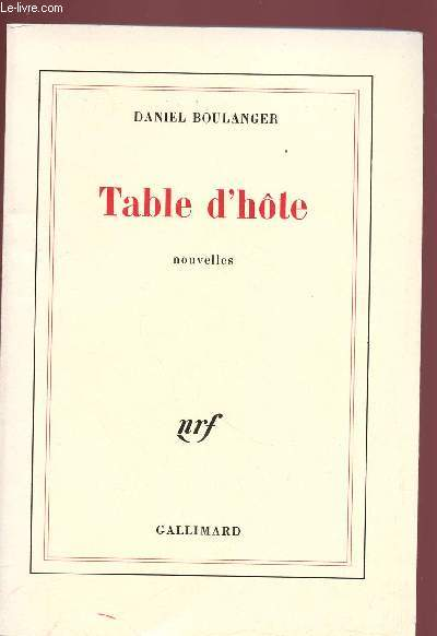 TABLE D'HOTE