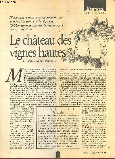 LE CHATEAU DES VIGNES HAUTES (ROMAN SENTIMENTAL PARU DANS BONNE SOIREE N°3860)