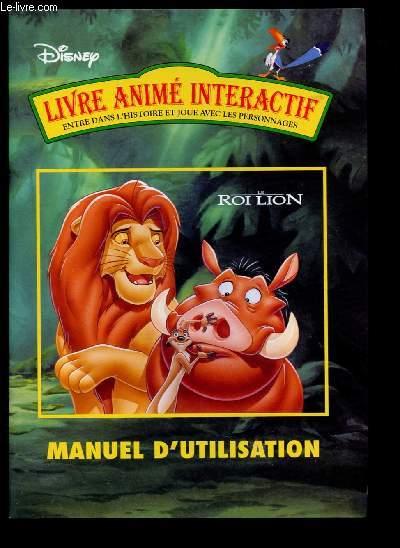 Livre Anime Interactif Le Roi Lion Entre Dans L Histoire Etjoue Avec Les Personnages Manuel D Utilisation