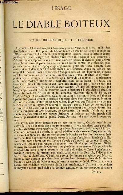 BIBLIOTHEQUE POPULAIRE N°115 : LE DIABLE BOITEUX