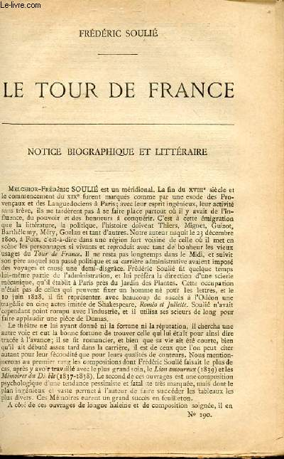 BIBLIOTHEQUE POPULAIRE N°190 : LE TOUR DE FRANCE