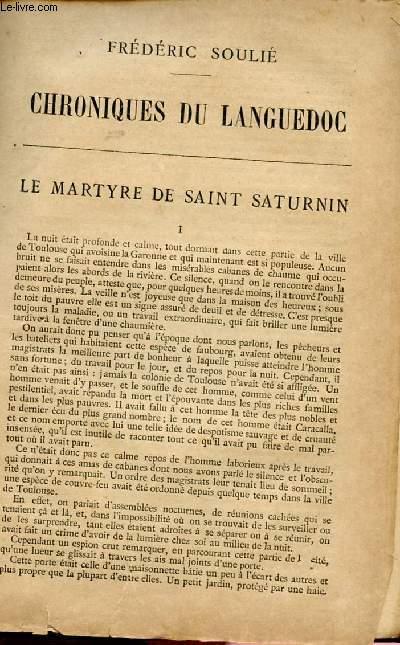 BIBLIOTHEQUE POPULAIRE - CHRONIQUES DU LANGUEDOC : LE MARTYRE DE SAINT AUGUSTIN /LE CONSEILLER AU PARLEMENT