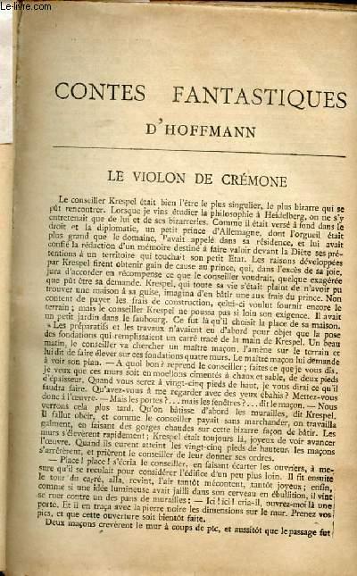BIBLIOTHEQUE POPULAIRE - CONTES FANTASTIQUES D'HOFFMAN : Le violon de Crémone, Ignace Denner, Le majorat