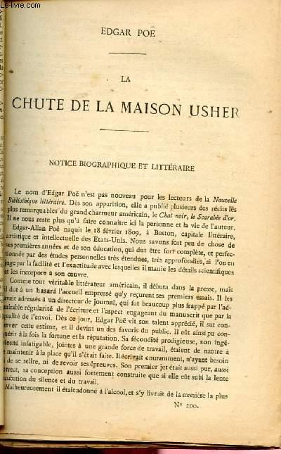 BIBLIOTHEQUE POPULAIRE N°200 : LA CHUTE DE LA MAISON USHER