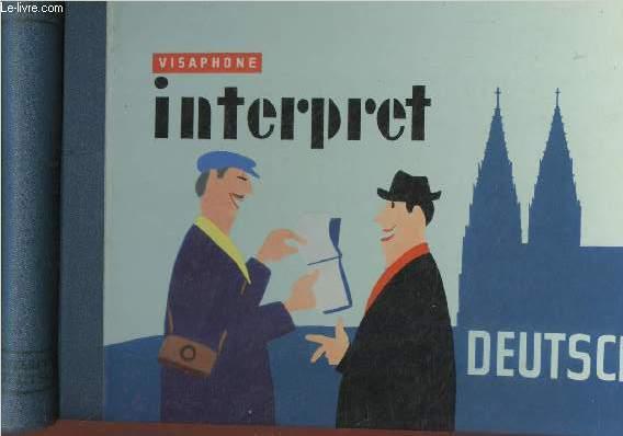 VISAPHONE : INTERPRET - DEUTSCH + Petit lexique du guide + 3 disques microsillons