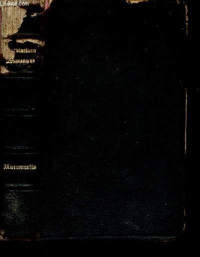 BREBIARIUM ROMANUM : EX DECRETO SS. CONCILII TRIDENTINI RESTITUTUM,S. PII V. PONTIFICIS MAXIMI JUSSU EDITUM CLEMENTIS VIII, URBANI VIII ET LEONIS XIII. AUCTPRITATE RECOGNITUM - PARS HUTUMNALIS