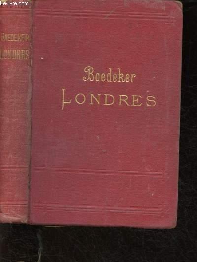 GUIDE BAEDEKER'S :  LONDRES ET SES ENVIRONS - MANUEL DU VOYAGEUR