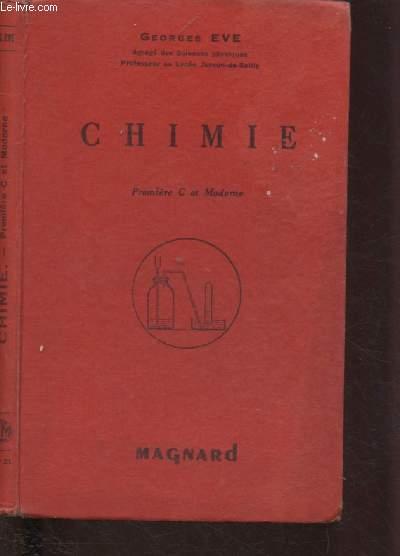 CHIMIE - PREMIERE C ET MODERNE