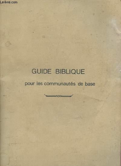 GUIDE BIBLIQUE POUR LES COMMUNAUTES DE BASE