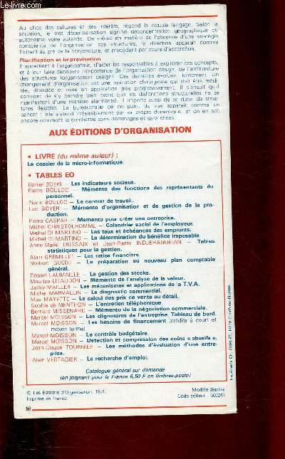 LES STRUCTURES DE L'ENTREPRISE / SERIE TABLES