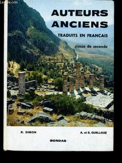 Auteurs Anciens Traduits En Francais Classe De Seconde