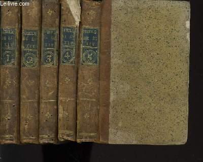SIECLES DE LOUIS XIV et LOUIS XV du Tome 1 à 5 (complet en 5 volume)