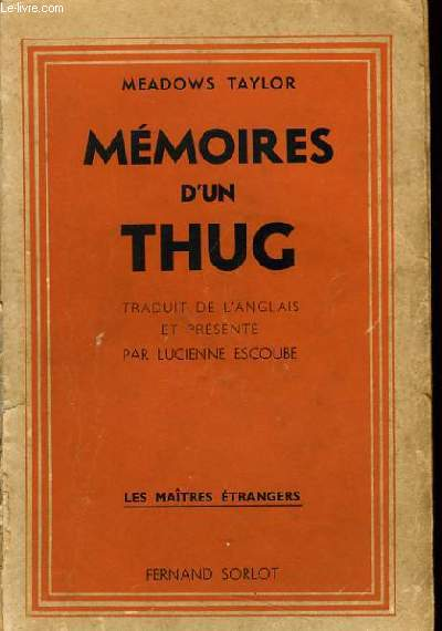 MEMOIRES D'UN THUG