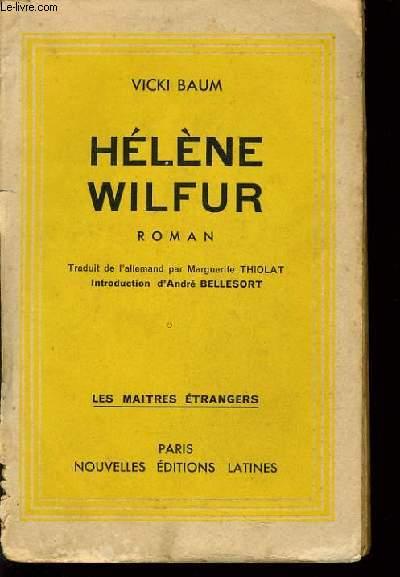 HELENE WILFUR (roman)