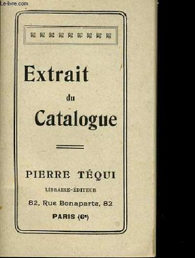 EXTRAIT DU CATALOGUE
