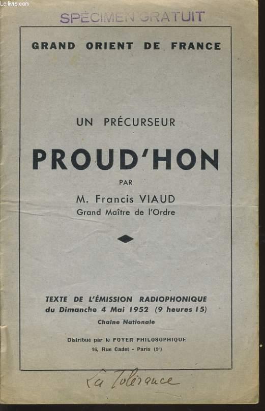 GRAND ORIENT DE FRANCE : UN PRECURSEUR POURD'HON