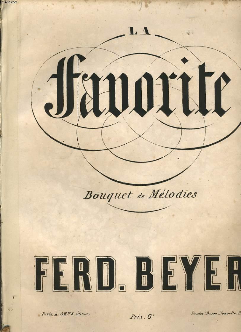 LA FAVORITE Bouquet et mélodie pour piano