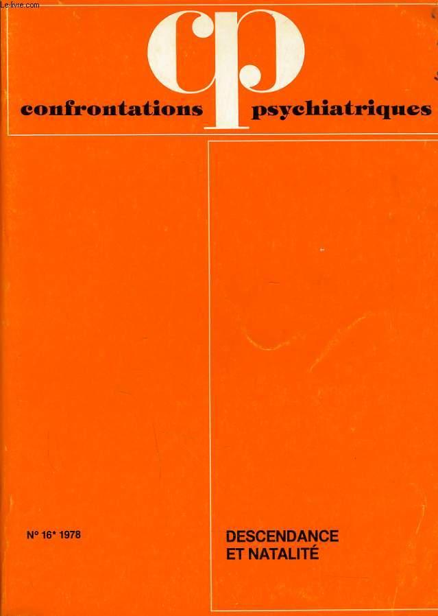 CONFRONTATIONS PSYCHATRIQUES n°16 : Descendance et natalité