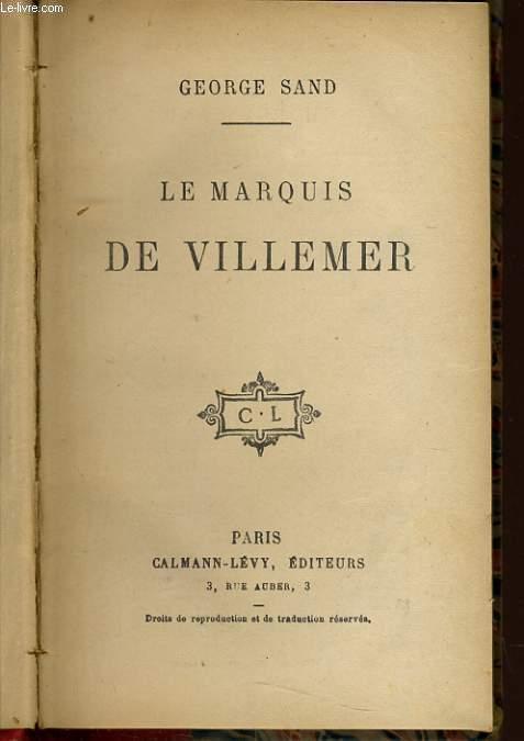 LES MARQUIS DE VILLEMER