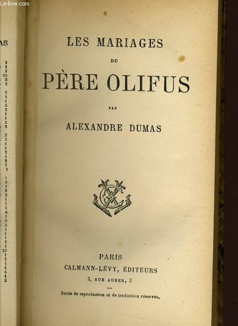 LES MARIAGES DU PERE OLIFUS