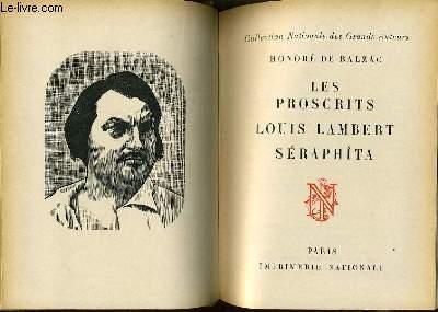 LES PROSCRITS LOUIS LAMBERT SERAPHITA