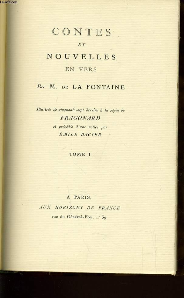 CONTES ET NOUVELLES EN VERS Tome 1,  précédés d'une notice par Emile Dacier