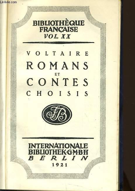 ROMANS ET CONTES CHOISIS