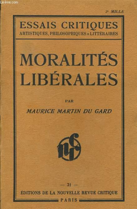 MORALITES LIBERALES