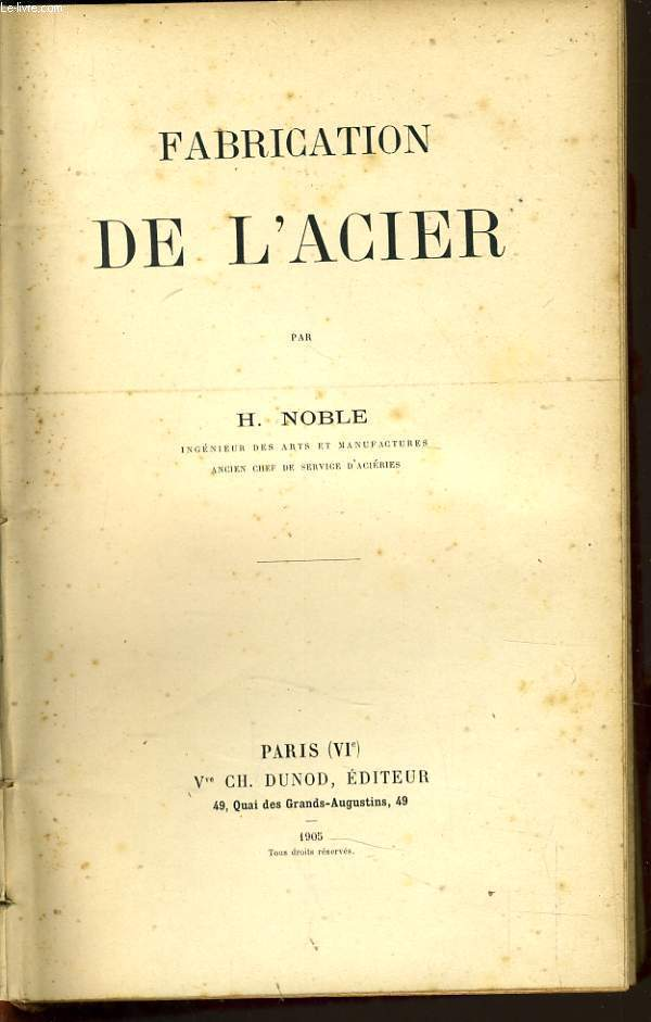 FABRICATION DE L'ACIER