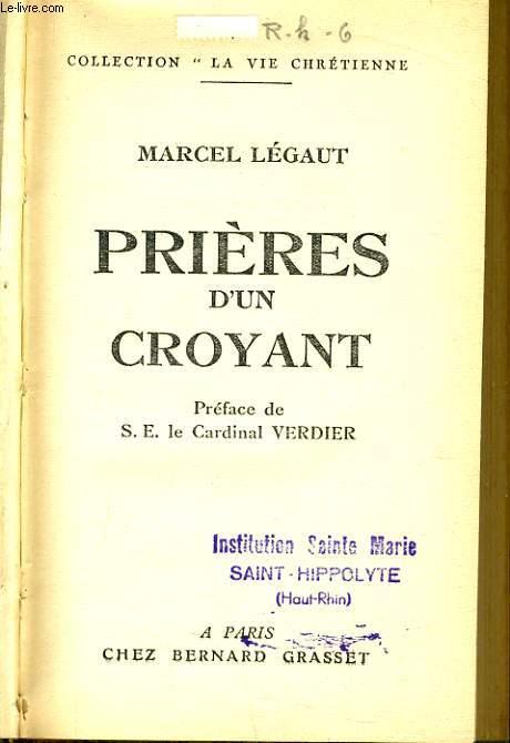 PRIERE D'UN CROYANT