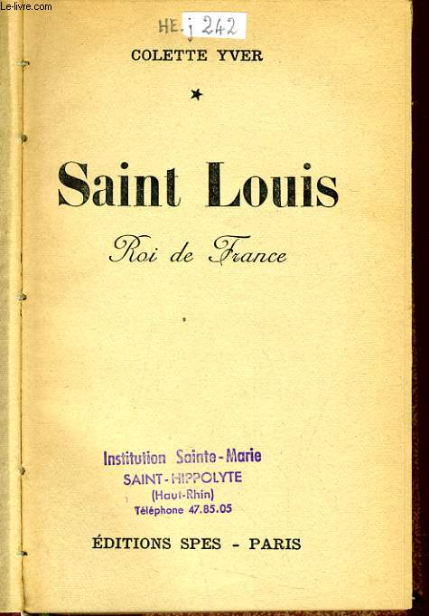 SAINT LOUIS roi de France