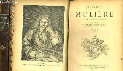OEUVRES DE MOLIERE en deux tomes  d'après l'édition de 1734