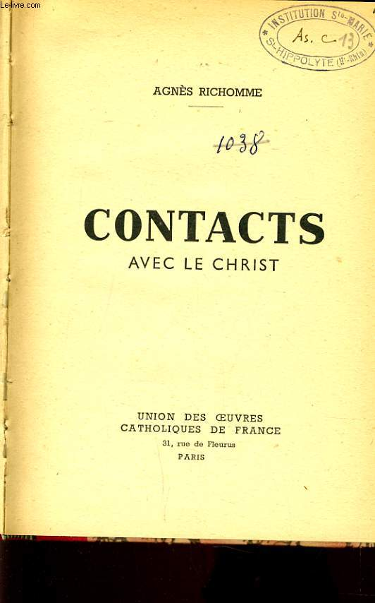 CONTACTS AVEC LE CHRIST