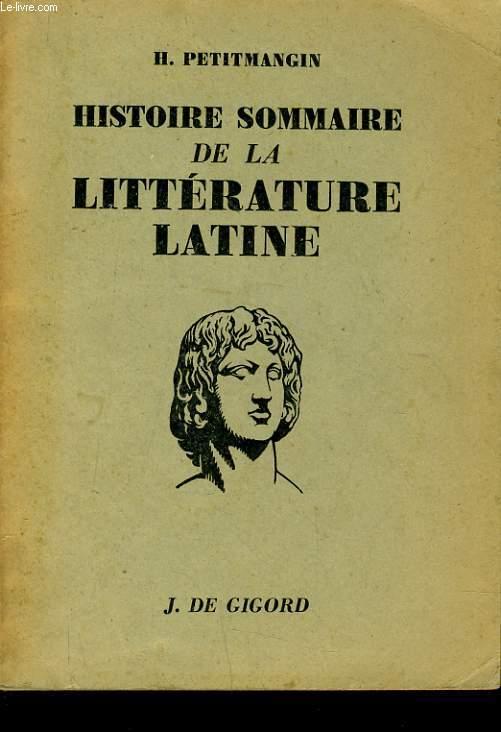 HISTOIRE SOMMAIRE DE LA LITTERATURE LATINE