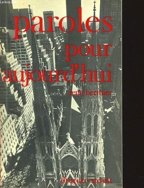 PAROLES POUR AUJOURD'HUI