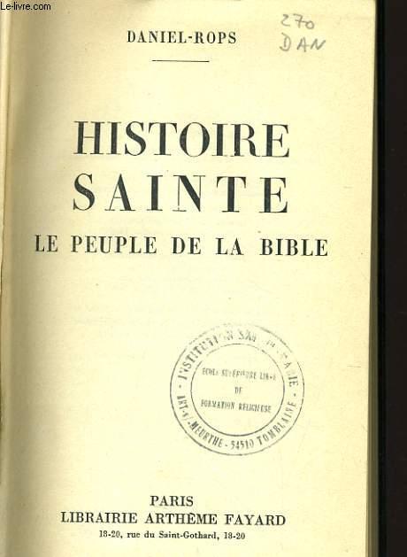 HISTOIRE SAINTE le peuple de la bible