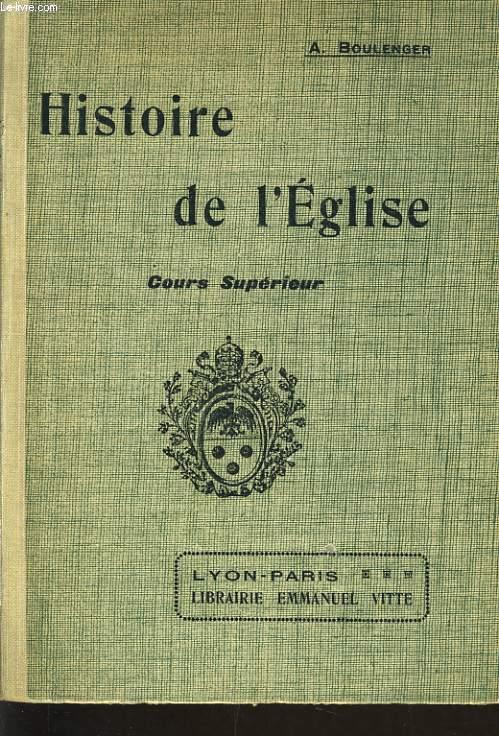 HISTOIRE DE L'EGLISE cours supérieur