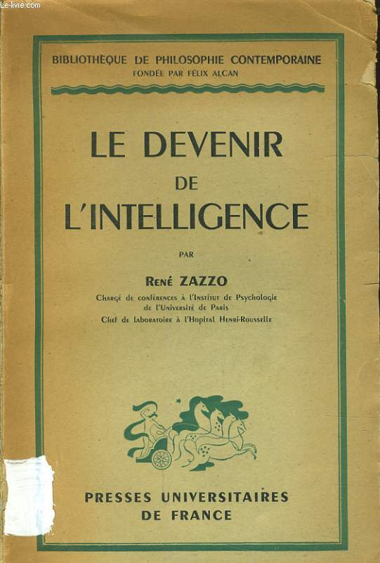 LE DEVENIR DE L'INTELLIGENCE