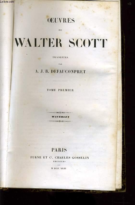 OEUVRES DE WALTER SCOTT tome 1 : Waverley