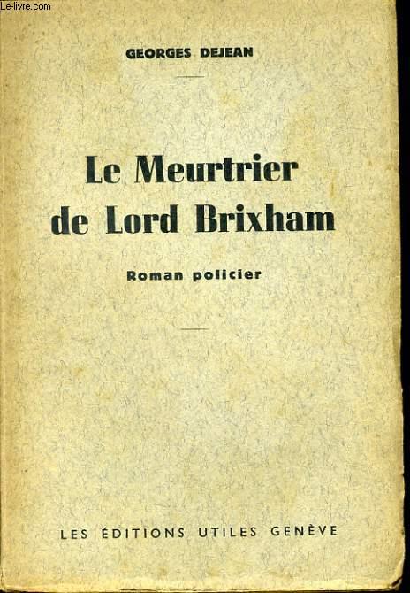 LE MEURTRIER DE LORD BRIXHAM