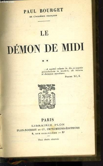 LE DEMON DE MIDI tome 2