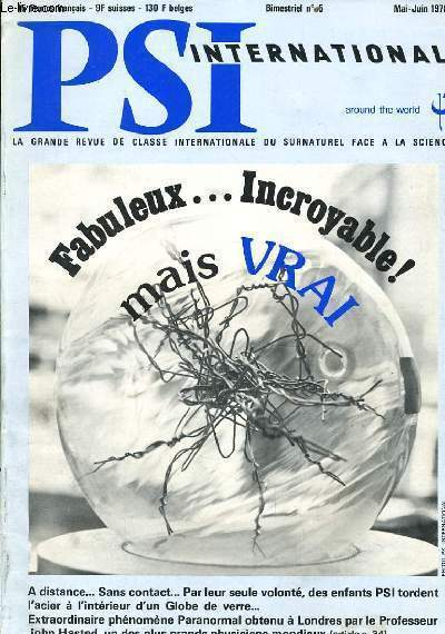 PSI INTERNATIONAL n°5 : Fabuleux... Incroyable mais Vrai