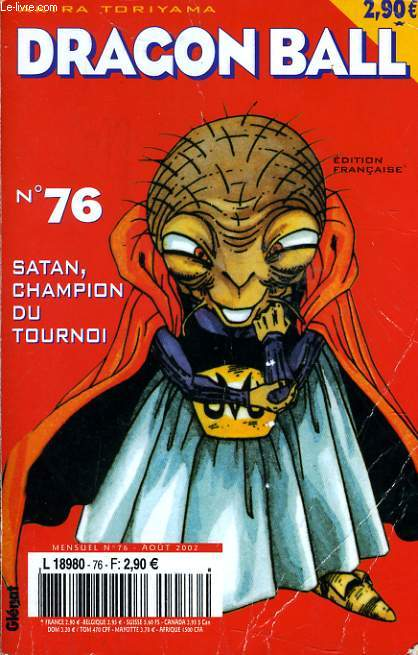 DRAGON BALL n°76 : Satan champion du tournoi